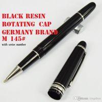 ingrosso penne promozionali di qualità-Penna a sfera in resina nera di lusso Masterpiece Classique, Germania Penna a sfera con penna roller Mblanc di alta qualità
