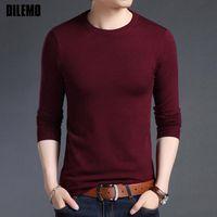 mann freie verschiffenkleidung koreanisch großhandel-2019 neue Art und Weise Marke Pullover für Herren Pullover aus Wolle Slim Fit Pullover Knitred O-Ansatz koreanischen Herbst-Art-beiläufigen Männer-Kleidung freies Verschiffen