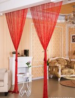 Wholesale 1M MKorean Sheer Curtains flat silver wire curtain door curtain partition curtain porch living room partition porch partition bedroom hangi