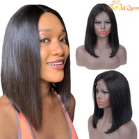 Wholesale adjustable wigs for sale - Group buy Brazilian Straight Hair Short Bob Wigs Adjustable x4 lace Closure Bob Human Hair Wigs Nature Color Gagaqueen Hair
