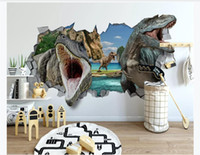 Wholesale dinosaur wallpaper mural for sale - Group buy Custom Photo Wallpaper For Walls Modern minimalist D wall dinosaur children s room background wall Mural Creative Wall Paper D