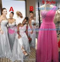 afrika elbiseleri toptan satış-100 $ altında Nedime Elbisesi Şifon Afrika Ülke Bahçe Örgün Düğün Konuk Onur Hizmetçi Kıyafeti Artı Boyutu Custom Made