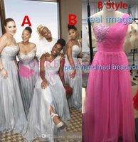 afrikanisches hochzeitskleid machen großhandel-Unter 100 $ Brautjungfer Kleid Chiffon afrikanischen Landgarten formale Hochzeitsfeier Gast Trauzeugin Kleid plus Größe nach Maß