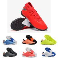 zapatos rojos de fútbol para interiores al por mayor-2019 Recién llegado Original para hombre Nemeziz 19.1 19.2 TF zapatos de fútbol para barato de alta calidad negro rosa rojo deportes interiores de fútbol Cleats