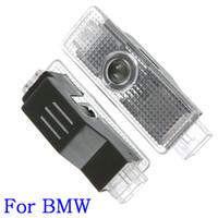 12v llevó luces de sombra al por mayor-2 UNIDS / set Para BMW 12 V 5 W Puerta de Coche Led de Bienvenida Proyector Láser Logo Ghost Shadow Light luz de bienvenida Para BMW