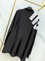 frauen lose langes hemd großhandel-Unisex Retro-Mode T-Shirt Herren hochwertiger Polyester atmungsaktiv lose langärmelige V-Ausschnitt Nähte Design führenden Long-Flow-Tops Womens
