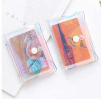 tarjetas de visita transparentes al por mayor-Láser de la moda Función transparente 20 Bits ID de Rfid Estuche de tarjeta bancaria Titular de negocios Mujeres Hombres Bolso pasaporte de crédito Monedero de la cartera