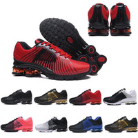 Wholesale genuine leather women shoes drop shipping for sale - Group buy New Arrival Designer Men Women Running Shoes Drop Shipping Shox DELIVER OZ NZ Mens Athletic Sneakers Sports Trainers Shoes Size