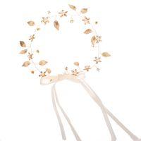diademas nupcial pelo largo al por mayor-Barroco Golden Leaf Diadema Boda Pelo Vine Largo Nupcial Diadema Wedding Hair Jewelry para novias Dama de honor boda Accesorios para el cabello