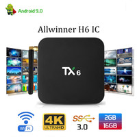 Wholesale android tv box chip resale online - Android tv box TX6 Allwinner H6 Chip Quad Core GB GB G Wifi Media Player Smart TV Box
