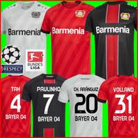 camisolas venda por atacado-19 20 Camisola de futebol de Leverkusen CH. ARANGUIZ 2019 Bayer 04 Leverkusen camisa de futebol L.BENDER PAULINHO HAVERTZ VOLLAND TAH Camisa de Futebol