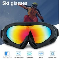 Wholesale uv ski goggles online - Mounchain Winter Unisex Skiing Gloves Single layer Goggles Anti wind UV protection ski Gloves Mountaineering Cycling Equipment