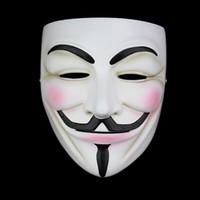 ingrosso resina maschera anonima-Alta qualità V per Vendetta Mask Resin Collect Home Decor Partito Lenti Cosplay Maschera anonimo Guy Fawkes J190710