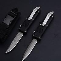 şam bıçağı 58hrc toptan satış-Şam 58HRC BENCHMADE bm C07 Küçük Baskı Çift Bıçak İyi Eylem Otomatik Hançer Taktik kamp açık C81 survival bıçaklar