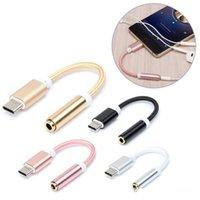 ingrosso convertitore usb audio-E-EDC USB Tipo C a 3,5 Adattatore per auricolari Tipo da C a 3,5mm per cuffie AUX cavo audio convertitore per xiaomi 6 Letv Le 2