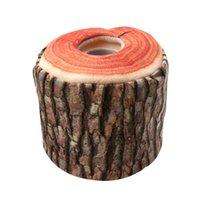 bäume bellen großhandel-Nachahmung Baumrinde Tissue Box Serviettenhalter Fall Papierabdeckung Home Küche Praktisches Dekor Zubehör