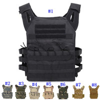 Wholesale tactical molle vest for sale - Group buy Tactical Vest Quick Combat Hunting Vest Molle Chest Rig Protective Plate Carrier climbing adjustable Combat Gear Vests MMA2459
