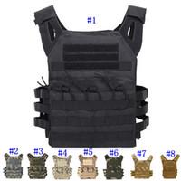 molle weste gang großhandel-Tactical Vest Quick Combat Jagdweste Molle Chest Rig Schutzplatte Träger klettern verstellbare Combat Gear Westen MMA2459