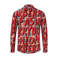 erkekler tasarım yaka gömlekleri toptan satış-Marka Tasarımcısı - Erkeklerin Yüksek Kalite Casual İşlemeli Baskı 3D Gömlek Ceket, Uzun Kollu Kare Yaka Gömlek, Casual Erkek Çizgili Top-19