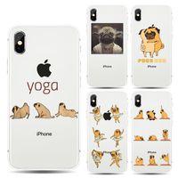 iphone 5s hüllen tierhund großhandel-Niedlichen Tier Haustier Hund weichen TPU Silikon transparenten Fall für Coque Apple iPhone XS Max 5 5S SE 6 6S 7 8 Plus X 10 XR Telefon rückseitige Abdeckung