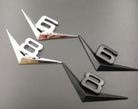 Chrome 3D Trunk Letter Wing Badge Emblem Emblem Emblem V6 V8 V10 V12 V6T V8T V10T V12T
