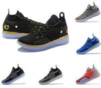 eps hot оптовых-Горячие продажи kd11s спортивная обувь Кевин Дюрант 11 зум работает спортивная обувь белый роскошные KD EP элита низкие спортивные кроссовки дизайнер обувь