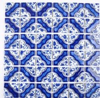 Wholesale art parquet for sale - Group buy Ceramic parquet waist line pool pool toilet kitchen mosaic personality art new Chinese tile