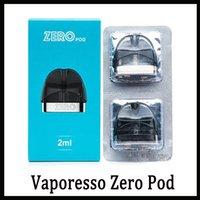 pacote de peças venda por atacado-Vaporesso Cartucho de Vagem Zero 2 ml 2 pcs pacote PCTG Principal Material para Kit Zero Starter E Cigarro Pod Peça De Reposição Frete Grátis 0266264