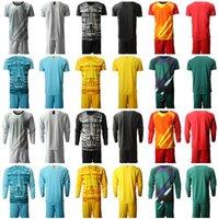 gömlek boş toptan satış-2019 2020 Bay Çocuk Kaleci Jersey Blank GK Kaleci Futbol Formalar Özel Ad Numara Futbol Gömlek Kısa Uzun Kollu Pantolon Gençlik Man ayarlar