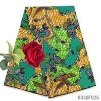 african prints materials großhandel-Neueste Ankara Wachs druckt Gewebe Qualitäts-afrikanische Wachs Stoff für Frauen-Partei-Kleider 6 Yards 100% Baumwollmaterial