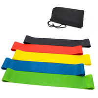 тренировочные группы оптовых-5Pcs/Set Yoga Exercise Bands Workout Fitness Latex Resistance Bands Loop Set 5-40LB 4 Varying Resistance Levels Pulling Rope