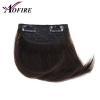 Wholesale clip bangs black hair for sale - Group buy Virgin Clip In Fringe Hair Extension Brazilian Straight Human Hair Bangs For Blank Women Natural Black Aofrie