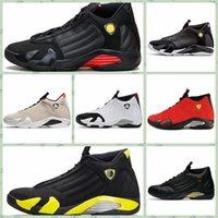 ingrosso aria retro 14-Nike Air jordan 14 Retro AJ AJ14 uomo economici Jumpman 14 IVX per esterni 14s Nero Rosso Giallo Oro bianco Blu MVP Grigio Airsflights Scarpe sneakers aj1s4 stivali da tennis j14s