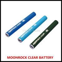 luces de batería led vape al por mayor-Con Moonrock batería recargable 350mAh de paso a través de Vape batería 3 colores USB 510 Bud Light Touch LED de la batería para Moonrock claras cartuchos