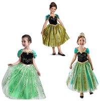 âge robe de noël achat en gros de-Enfant en bas âge Robes Baby filles Frozen Anna princesse robes filles Costume Party Beauty Pageant Noël danse Vêtements décontractés