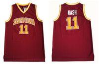 ingrosso sport di squadra uniformi di pallacanestro-Santa Clara Broncos Steve 13 Nash College Maglie Uomo Colore rosso Squadra Saldi Nash Maglie basket Università Uniformi sportive traspiranti
