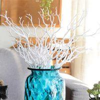 decorações de hotel em madeira venda por atacado-Novo Design Artificial galho de árvore de madeira plástica branca pequena árvore ramos secos de plantas for Wedding Party Home Hotel Venue Decoração