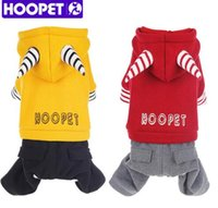 Wholesale Pet Fleece Clothes for Dog Winter Warm Thick Hoodies Small Dog Clothes Fleece Jumpsuit Pants Apparel Two Feet Big Dog Clothes XS XL