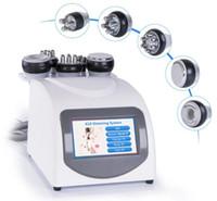 máquina de adelgazamiento por ultrasonidos de vacío rf rf al por mayor-Salón de cuidado de la piel RF cavitación ultrasónica bipolar 5 en 1 máquina de adelgazamiento de celulitis equipo de belleza de pérdida de peso al vacío
