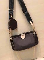 omuz çantası çanta askısı toptan satış-M44823 tasarımcı lüks çanta çanta kadın omuz çantaları L çiçek 3 adet kadın zincir kayış omuz pruses çantası