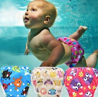 Wholesale cute girls diapers resale online - Baby Summer Swim Diaper Swimwear Toddler Baby Boys Girls Cute Pattern Swimwear Swimming trunks Nappies Shorts Adjustable