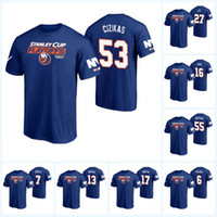 johnny camisetas venda por atacado-New York Islanders Playoffs da Stanley Cup T-Shirt Barzal Mathew Boychuk Johnny Fritz Tanner Lee Anders Matt Martin