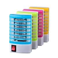 elektrik prizleri toptan satış-LED Soket Elektrikli Sivrisinek Katili Bug Böcek Tuzak Katil Lambası Zapper Gece Işıkları Haşere Kontrolü Ev mutfak Kullanımı Sivrisinek Kovucu