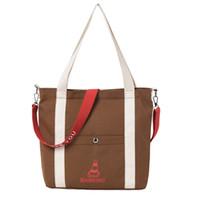 Wholesale high capacity mini gold resale online - Women Canvas Tote Printing Handbags Female Leisure High Capacity Canvas Beach Bag for Women Embroidery Shoulder Crossbody Bag