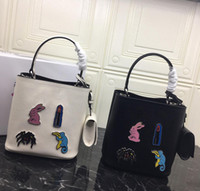 Wholesale pink doll style resale online - 2019 Classic Mini doll designer small Tote bags Leisure Magnetic snap fit central pocket Water Barrel Bag Real Cortex Quality BA217