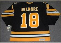 Wholesale Custom Men Youth women Vintage HAPPY GILMORE Boston Bruins CCM Hockey Jersey Size S XL or custom any name or number