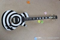 Wholesale china quality guitar free for sale - Group buy High quality G China Zakk Wylde LP Custom EMG pickup white BLACK Electric guitar dcfre