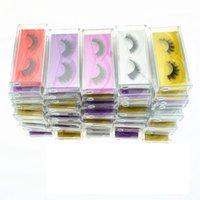 sahte mink kirpikler toptan satış-3D Vizon kirpik Yanlış Kirpik Doğal Uzun Sahte Kirpik Uzatma Kalın Çapraz Sahte 3d Vizon Kirpik Göz Makyajı GGA1759