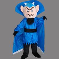 ingrosso costumi del diavolo blu-Lovely Blue Devil Mascot Costume per Festival / Hallooween / Natale