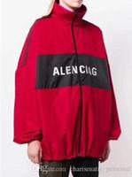 cardigans delgados para hombre al por mayor-Diseño de marca de moda Primavera y otoño capa delgada Hombres mujeres Carta Imprimir manga larga con cremallera chaqueta de punto sudadera Outwear Escudo